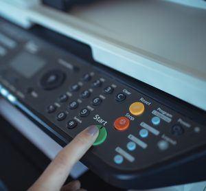 Turning on the Copier Machine