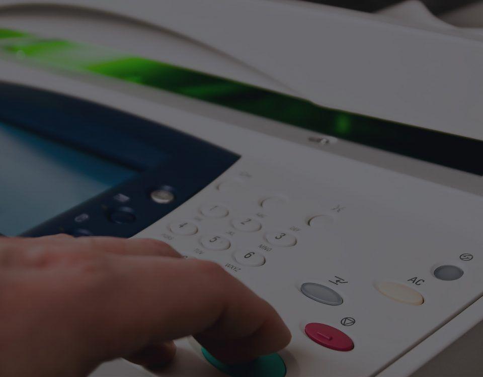 White Copier Machine